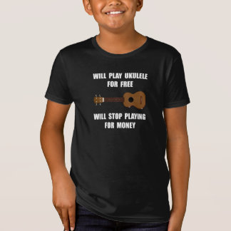 Ukulele Playing T-Shirt