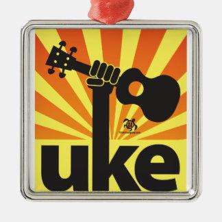 Ukulele Power Christmas Ornament