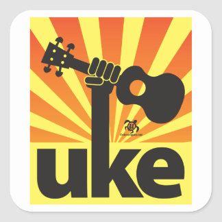 Ukulele Power Square Sticker