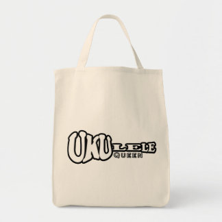 Ukulele Queen Tote Grocery Tote Bag