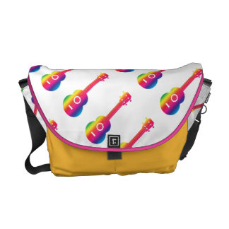 Ukulele Rainbow Vibrant Messenger Bag