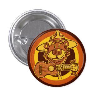 """Ukulele Rangers """"Bear + Uke"""" Cartoon Mini-Button 3 Cm Round Badge"""