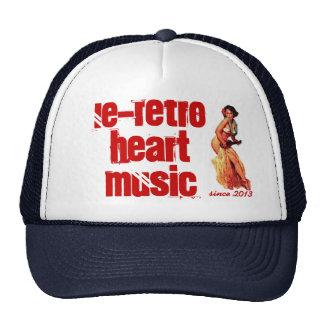 Ukulele Retro Girl cap Trucker Hat
