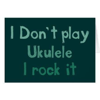 Ukulele Rock It Greeting Card