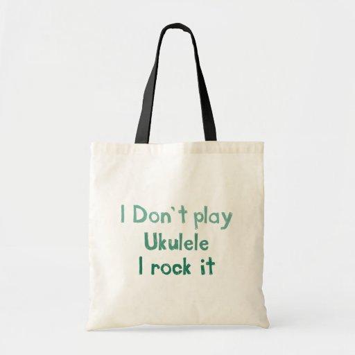 Ukulele Rock It Totebag Canvas Bag