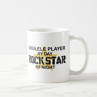 Ukulele Rock Star by Night Basic White Mug