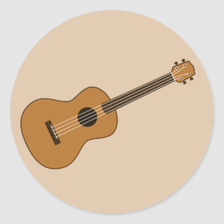 Ukulele Round Sticker