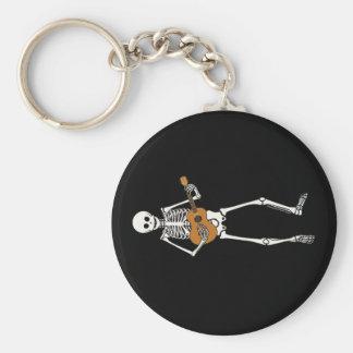 Ukulele Skeleton Key Ring