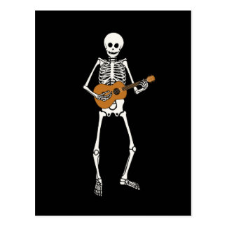 Ukulele Skeleton Postcard