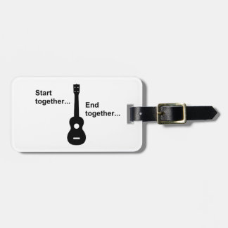 Ukulele Start Together... Luggage Tag