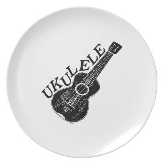 Ukulele Text And Image Plate