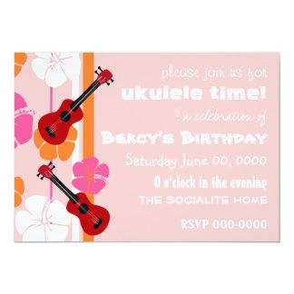 Ukulele Time! 13 Cm X 18 Cm Invitation Card