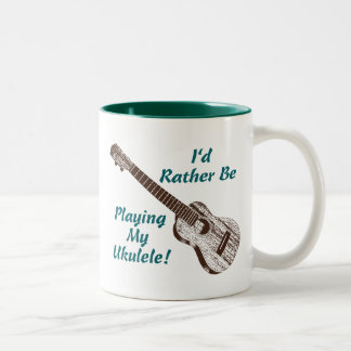 Ukulele Two-Tone Coffee Mug