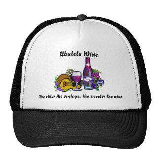 Ukulele Wine Trucker Hat