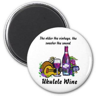 Ukulele Wine Magnet