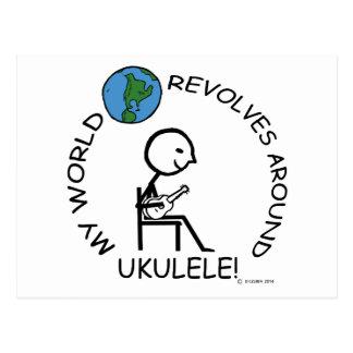 Ukulele - World Revolves Around Postcard