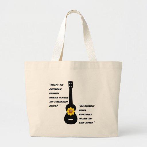 Ukuleles and bonds canvas bag