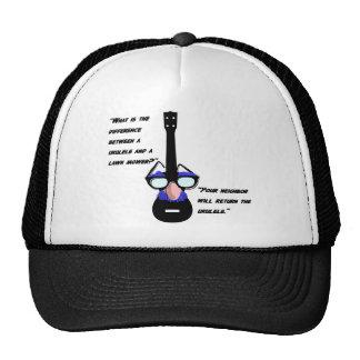 Ukuleles and lawnmowers hats