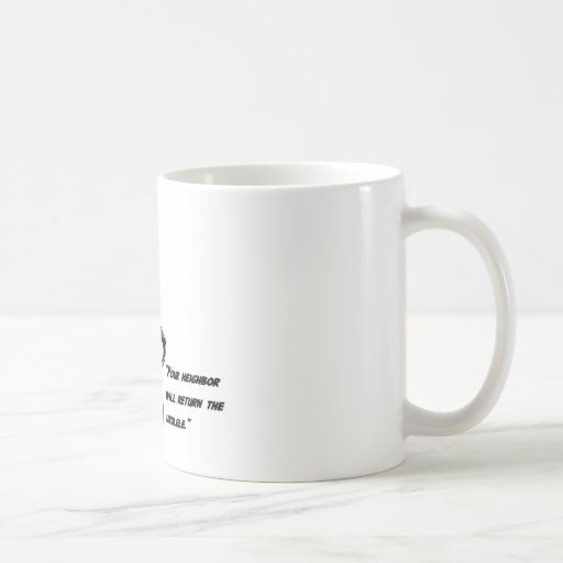 Ukuleles and lawnmowers coffee mugs