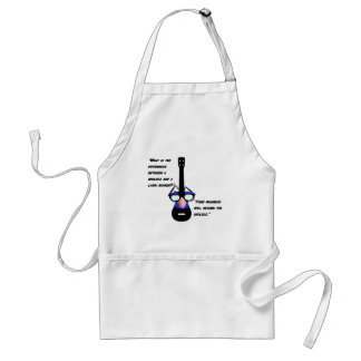 Ukuleles and lawnmowers standard apron