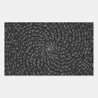 Ulam Spiral Rectangular Sticker