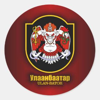 Ulan Bator Emblem Classic Round Sticker