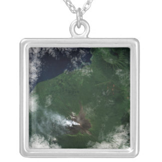 Ulawun Volcano of New Britain Summit Silver Plated Necklace