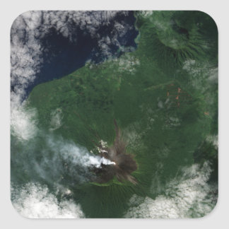 Ulawun Volcano of New Britain Summit Square Sticker