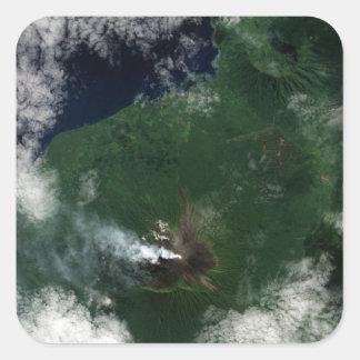 Ulawun Volcano of New Britain Summit Square Stickers