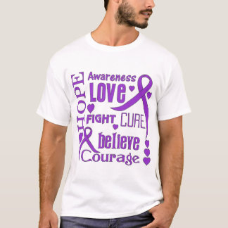 Ulcerative Colitis Hope Words Collage T-Shirt