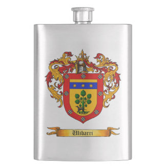 Ulibarri shield of Arms Hip Flasks