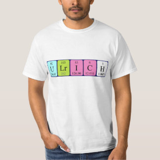 Ulrich periodic table name shirt