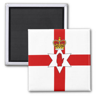Ulster Banner Northern Ireland Flag Square Magnet