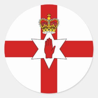 Ulster Banner Northern Ireland Flag Round Sticker