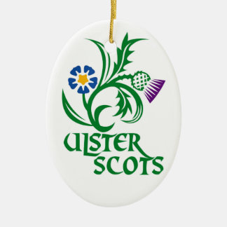 Ulster Scots (Scots-Irish) design. Ceramic Oval Decoration