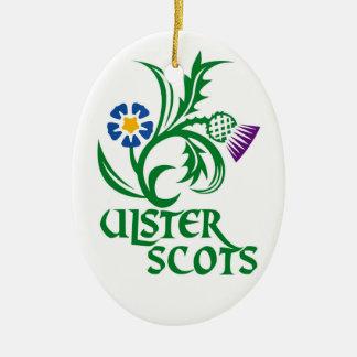 Ulster Scots (Scots-Irish) design. Ceramic Oval Decoration