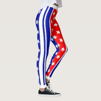 Ultimate American Patriot USA Stars and Stripes Leggings