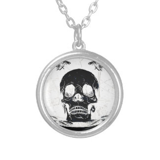 Ultimate Death Skull Silver Plated Necklace