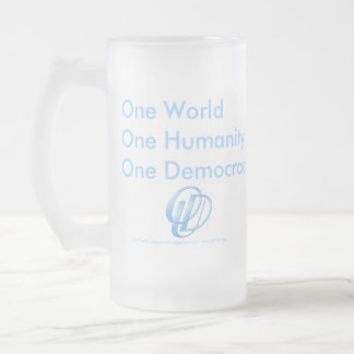 Ultimate Democracy. by the PEOPLE, for the PEOPLE Frosted Glass Mug