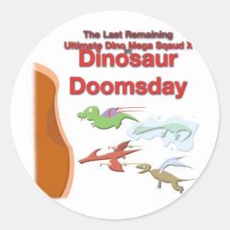 Ultimate Dino Mega Squad X Round Stickers