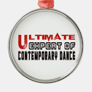 Ultimate Expert Of Contemporary dance. Silver-Colored Round Ornament