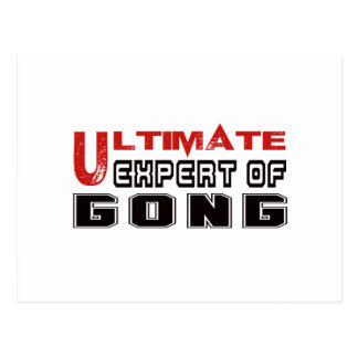 Ultimate Expert Of Gong. Postcard