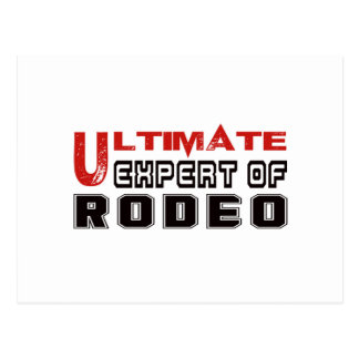 Ultimate Expert Of Rodeo. Postcard