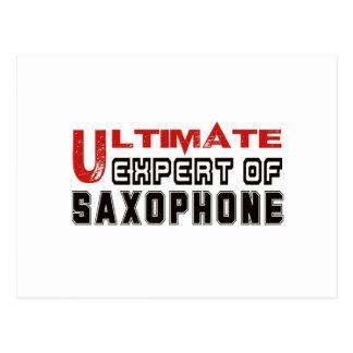 Ultimate Expert Of Saxophone. Postcard
