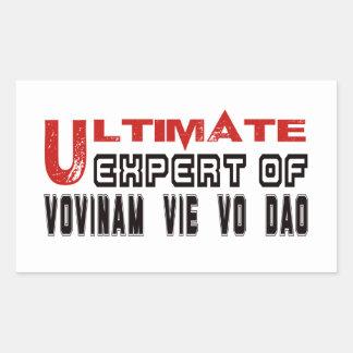 Ultimate Expert Of Vovinam vie vo dao. Rectangular Sticker