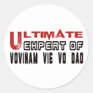 Ultimate Expert Of Vovinam vie vo dao. Round Sticker