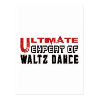 Ultimate Expert Of Waltz dance. Postcard