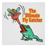 ultimate fly catcher funny frog poster