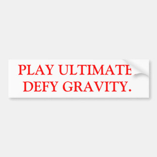 Ultimate Frisbee Bumper sticker