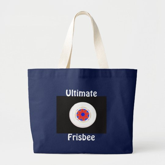 Ultimate Frisbee Large Tote Bag